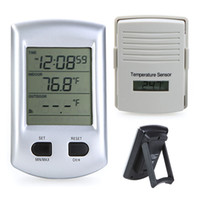 Digital H9350  Digital Wireless Indoor Outdoor Thermometer Weather Station Clock For Home Garden Freeshipping H9350