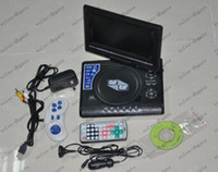 Wholesale Portable inch DVD EVD player with TV MP3 Mp4 game new design with retail box set DK2204