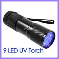 Wholesale Black LED Purple Light Aluminium Torch UV Flashlight