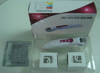 Wholesale DNS needles photon vibration BIO derma roller home use with replacement needle heads