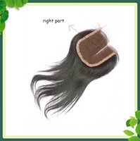 Cheap Straight Lace Closure Right Parting Brazilian Virgin H...