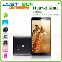 Wholesale New Arrival Original Brand Huawei Ascend Mate Huawei CPU Quad Core GHz RAM GB ROM GB IPS Screen Fast Freeshipping