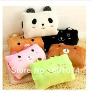 Wholesale plush Toys cartoon animal warm hands Nap Pillow Comfortable Sofa Bed Cushion