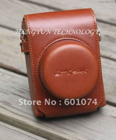 Wholesale Leather Camera Case Bag For PANASONIC LUMIX DMC GF3 GF3X X14 mm Brown