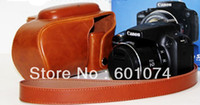 Wholesale Leather Camera Case Bag For Canon Powershot SX50HS SX50 HS Light brown B Style
