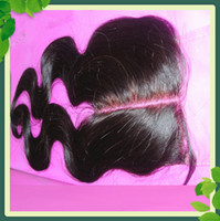 World Cheaper Deep Wave Middle Part Top Closures Brazilian V...