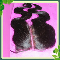 Hot Sell Middle Part Lace Closure Body Wave Peruvian Virgin ...