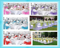 Wholesale Wedding Organza Chair Cover Sashes Sash Party Banquet Decor Bow Colours