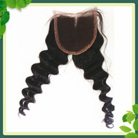 Fashion Deep Wave Lace Closure Middle Part Indian Virgin Hum...