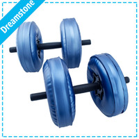 Wholesale by EMS portable dumbbell sets Water Poured Dumbbell have RoHS approved pairs
