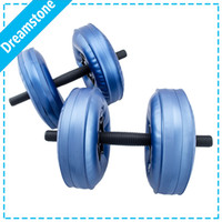 Wholesale by EMS flexible dumbbells Water Poured Dumbbell have RoHS approved pairs