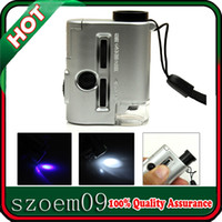 Wholesale 30X X Mini UV LED Light Zoom Focus Adjustable Jewelry Eye Loupe Magnifier Microscope