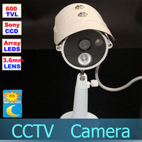 Wholesale CCTV Surveillance Sony CCD TVL Waterproof Array IR Day Night Bullet Camera mm lens indoor outdoor Video Camera