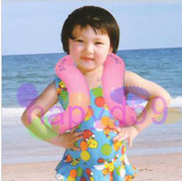 Wholesale new Trumpet size swimming vest kid inflatable life vest swimming circle swimming ring floating ring U armpit floating ring with safety clasp