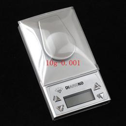 2017 bijoux de pierres précieuses 10g 0.001g LCD Jewelry échelle numérique de poche diamant en acier inoxydable Gem Poids de haute précision Mini Scales Hot vente Livraison gratuite peu coûteux bijoux de pierres précieuses