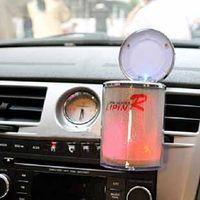 light up products - EMS High Quality LED Car slap up ashtray Portable night lights ashtray rainbow colors car ashtrays novelty products