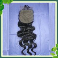 4*4 inches Silk Top Lace Closure Body Wave Brazilian Virgin ...