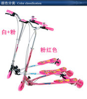 Wholesale Three Flash Pu Wheel Frog Kick Scooter Three Specifications Many Colors