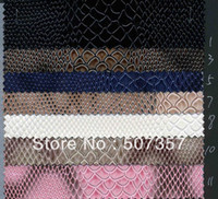 Wholesale snake PVC leather fabric sofa handbags leather color glossy