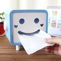 Wholesale 64pcs Rotatable Smiley Face Tissue Box