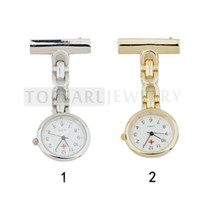 LPW623 Teboer Jewelry 2pcs Quartz Movement Pin broche Infirmière Fob Watch