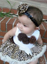 Wholesale Leopard lace Brown new girls tutu skirt factory outlets Children s Outfits kids pettiskirt h001