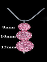 Silver Plate/Fill bling jewelry - Bling Jewelry Silver Jewelry Pink Swarovski Disco Ball Pendant Necklace Fit Snake Chain inch