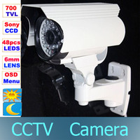 Wholesale CCTV TVL Sony CCD Color Effio e OSD Surveillance Camera Vandalproof IR mm lens LEDs Day Night Security Bullet Camera