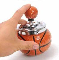 Wholesale Creative football soccer basketball rotating metal ashtray European fashion personality ashtrays ceramic ashtray boys loving gifts t5420