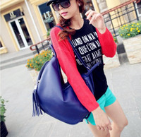 Wholesale Cheap Women Hobo Bag Backpack Shoulder PU Leather Black Orange Navy Colors Mix New Arrival B13