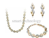 Wholesale High Quality Wheat African Bridal Jewelry Sets k Gold Plated Luxury Jewelry Sets No MOQ