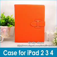 New arrival! Luxury Leather Case for iPad 2 3 the new ipad 8...