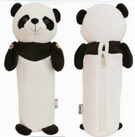 Wholesale 2013 New Hot Selling Pieces Cute Cartoon Panda Student Plush Pencil Bag Money Coin Bag Case