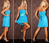 Wholesale M XXL Plus Size Colors Women Sexy Strapless Club Party Dress Lady Nighty Chemise Lingerie