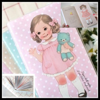 Planners & Organizers beautiful love note - Beautiful Notebook colors Retro Girls Paper Doll Mate Loves gifts hot selling good quality gum cover Paper Notebook new arrival dropship