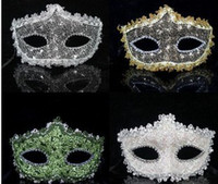 Wholesale Lace Rhinestone leather Ms Princess the mask masquerade face mask