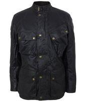 Wholesale Designer men wax jacket outdoor motocycle cloth jacket enfold collar with buckle waterproof windproof