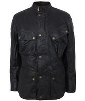 Hombres chaqueta de cera Diseñador chaqueta paño motocycle exterior envuelven el collar con el envío libre a prueba de viento impermeable hebilla