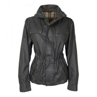 designer fabric - Designer women wax jacket tailored collar slant pocket Loose body slim waist waterproof fabric