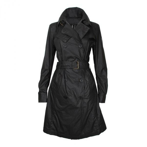 Designer Women Trench Coats Wax Cloth Double-breast Buttons Business