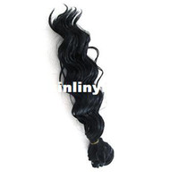 Wholesale Simulation of black curly hair wig splicing