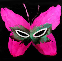Wholesale Butterfly Design Half Face Mask Feather Masks Party Supplies Christmas Crafts LP064