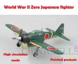 Wholesale 1 finished world war II Japanese Zero piston propeller fighter model military aircraft model