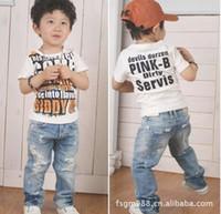 Wholesale Boys Jeans Children Jean baby pants Boy s Jeans Cowboy pants Holes pants trousers