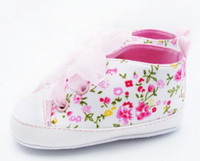 Spring / Autumn baby wear shops - 30 OFF pairs White floral chiffon straps floor shoes cheap shoes baby wear baby shoes shoes shop discount shoes kid shoes hot J