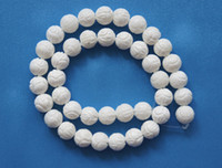 Wholesale Brand New mm White Coral Carved Round Loose Beads inch