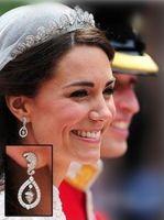 Wholesale Kate s exquisite oak leaves dangle earrings royal wedding Catherine Middleton