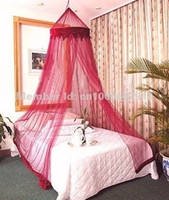 Adults Full Circular Fedex free shipping BURGANDY BED CANOPY DREAMMA MOSQUITO BUG NET BEDS CANAPY BEDROOM CURTAIN NETS CURTAINS DECOR FLY BUG BEE NETTIng mesh
