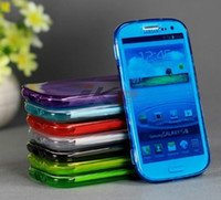 Wholesale High Quality Flip TPU Silicon Case For Samsung Galaxy S3 i9300 Silicone Back Cover