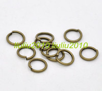 Alloy jump rings - 1000pcs Antique Bronze Open Jump Rings x0 mm Jewelry Findings LZA0011